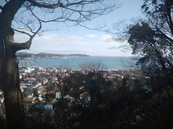 長谷寺から望む相模湾