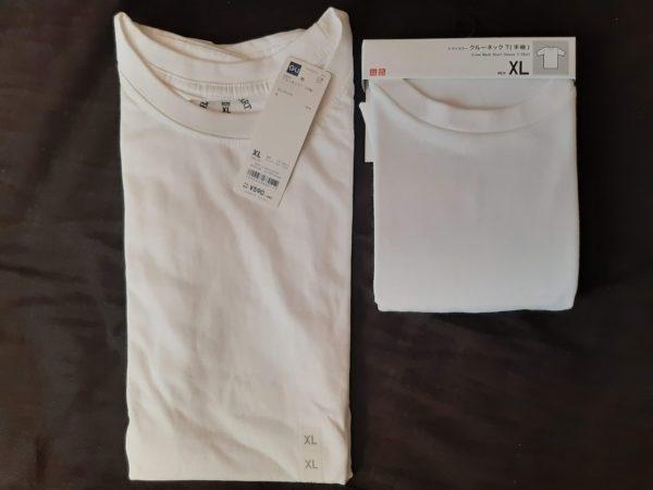 GUとユニクロのTシャツ