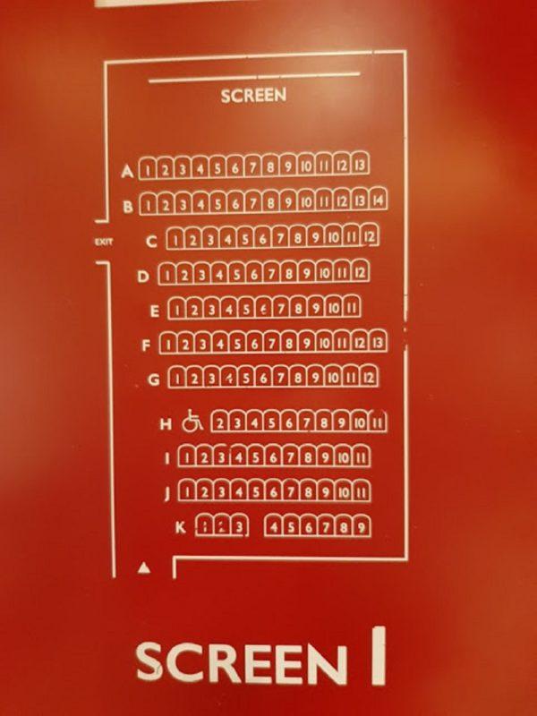 新宿武蔵野館スクリーン1の座席表