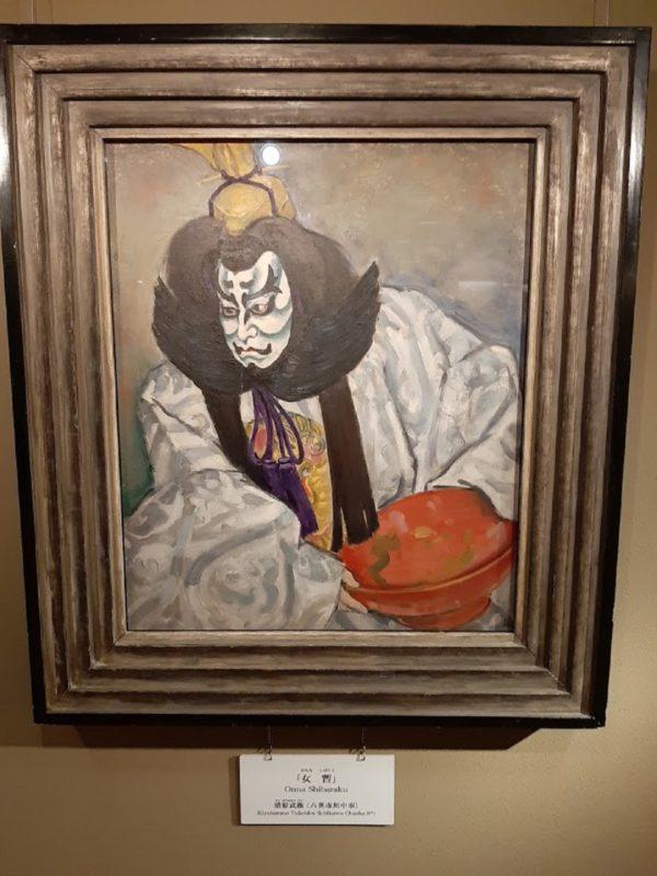 歌舞伎「女暫」の油絵