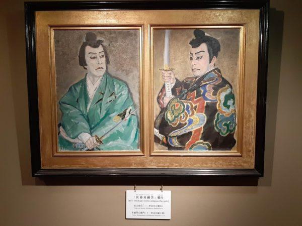 歌舞伎の油絵