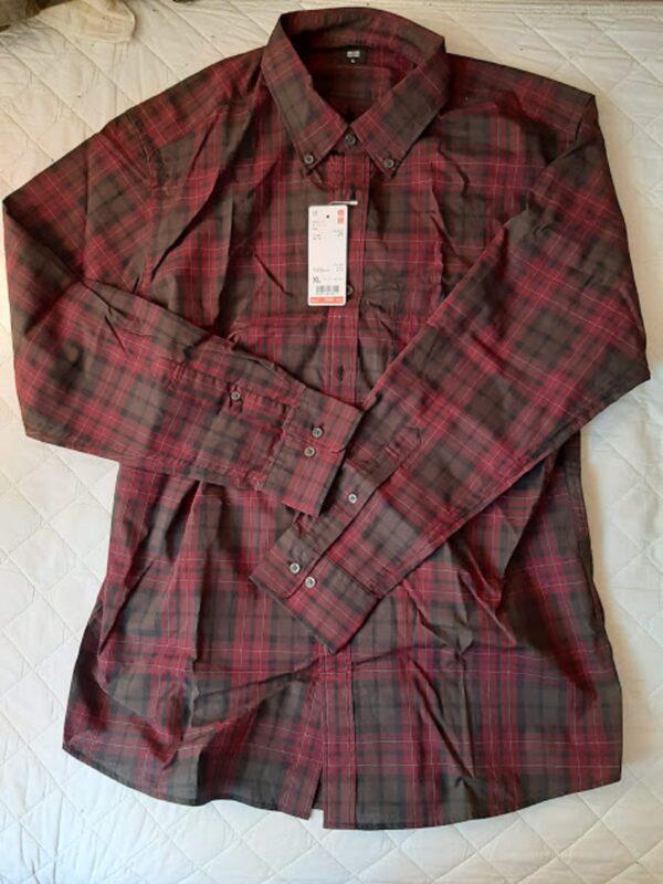 ユニクロ、ブロードチェックシャツ